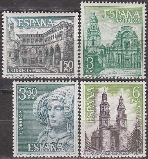 EDIFIL Nº 1935/8, SERIE TURISTICA 1969: TERUEL, MURCIA, ALICANTE Y LA RIOJA, NUEVOS (Sellos - España - II Centenario De 1.950 a 1.975 - Nuevos)