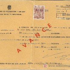 Sellos: LICENCIA DE EXHIBICION DE PELICULA CON SELLO FISCAL Nº 715.. Lote 12232527
