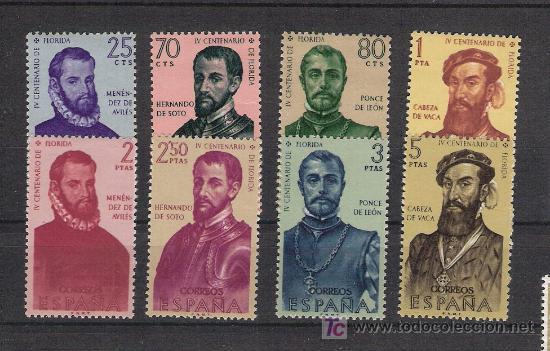 ESPAÑA - AÑO 1960 - FORJADORES AMÉRICA - EDIFIL 1298/1305 ** - SERIE COMPLETA (Sellos - España - II Centenario De 1.950 a 1.975 - Nuevos)