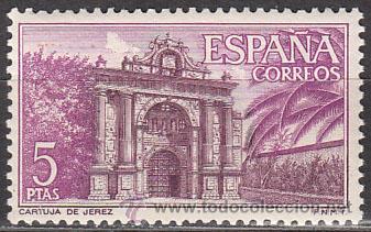 EDIFIL Nº 1763, CARTUJA DE SANTA MARÍA DE LA DEFENSIÓN EN JEREZ, NUEVO (Sellos - España - II Centenario De 1.950 a 1.975 - Nuevos)