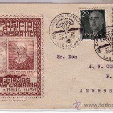 Sellos: SOBRE CONMEMORATIVO II EXPOSICIÓN FILATELICA DE LAS PALMAS CON SELLO 1096. Lote 13841516