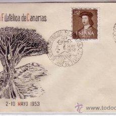 Sellos: SOBRE CONMEMORATIVO II EXPOSICIÓN FILATELICA DE CANARIAS CON SELLO 1110. Lote 21948261