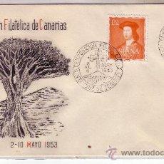 Sellos: SOBRE CONMEMORATIVO II EXPOSICIÓN FILATELICA DE CANARIAS CON SELLO 1109. Lote 21948262