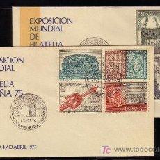 Sellos: ESPAÑA.- Nº 2244/51 EXPOSICIÓN MUNDIAL ESPAÑA 75 ORFEBRERIA DIA CLAUSURA. Lote 20115801