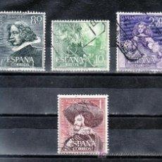 Stamps - españa 1340/3 usada, pintura, iii centenario de la muerte de velazquez, - 14241203