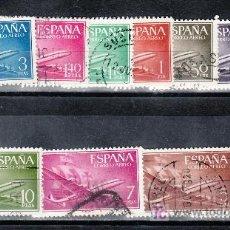 Sellos: ESPAÑA 1169/79 USADA, AVION, BARCO, SUPERCONSTELLATION Y NAO -SANTA MARIA-. Lote 14241554