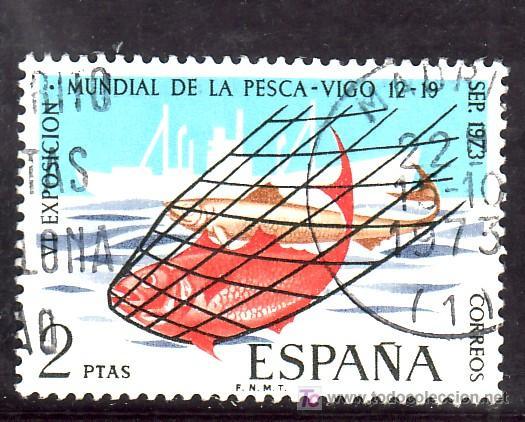 ESPAÑA 2144 USADA, VI EXPOSICION MUNDIAL DE PESCA EN VIGO, (Sellos - España - II Centenario De 1.950 a 1.975 - Usados)