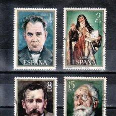 Francobolli: ESPAÑA 2027/30 USADA, CENTENARIO, AMADEO VIVES, SANTA TERESA, BENITO PEREZ GALDOS, MENENDEZ PIDAL, . Lote 14265071