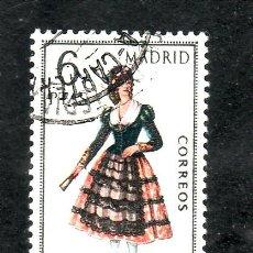 Francobolli: ESPAÑA 1904 USADA, TRAJES TIPICOS ESPAÑOLES, MADRID. Lote 154187292