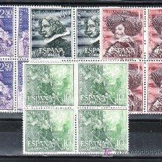 Stamps - españa 1340/3 en b4 sin charnela, pintura, iii centenario de la muerte de velazquez - 17349215