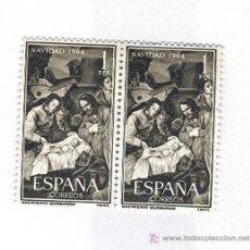Sellos: NAVIDAD 1964-BLOQUE DE 2- EDIFIL 1630. Lote 16464777