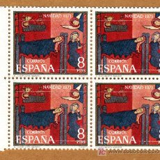 Sellos: NAVIDAD 1971-BLOQUE DE 4- EDIFIL 2061/1. Lote 17619068