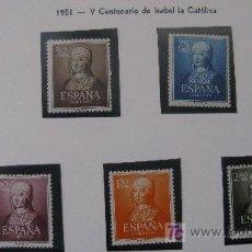 Sellos: 1951 V CENT. NACIMIENTO ISABEL LA CATOLICA EDIFIL 1092/96. Lote 26292979