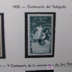 Sellos: 1955 I CENTENARIO DEL TELEGRAFO EDIFIL 1180/82. Lote 26273393