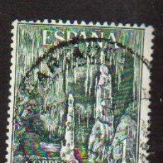 Sellos: SELLO USADO ESPAÑA AÑO 1964 SELLO SERIE TURISTICA PAISAJES Y MONUMENTOS CUEVAS DEL DRACH MALLORCA. Lote 17642579