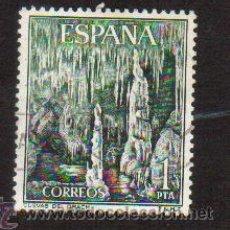 Sellos: SELLO USADO ESPAÑA AÑO 1964 SELLO SERIE TURISTICA PAISAJES Y MONUMENTOS CUEVAS DEL DRACH MALLORCA. Lote 17642584