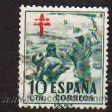 Sellos: SELLO USADO ESPAÑA AÑO 1951 SELLO PRO TUBERCULOSOS SOROLLA. Lote 17643080