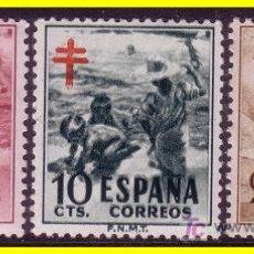 Sellos: 1951 PROTUBERCULOSOS Nº 1103 A 1105 * *. Lote 118630615