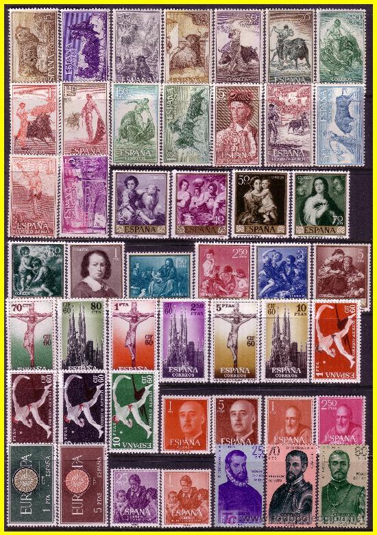 1960 AÑO COMPLETO, EDIFIL Nº 1254 A 1325 * * (Sellos - España - II Centenario De 1.950 a 1.975 - Nuevos)