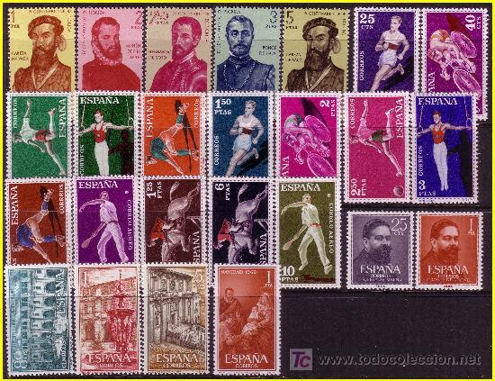 Sellos: 1960 Año completo, EDIFIL nº 1254 a 1325 * * - Foto 2 - 19139585