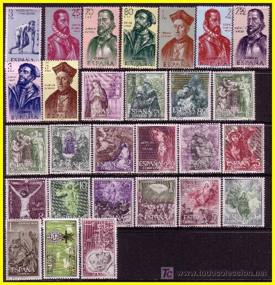 Sellos: 1962 Año completo, EDIFIL nº 1406 a 1480 * * - Foto 2 - 19139726