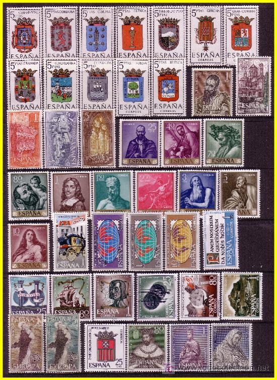 1963 AÑO COMPLETO, EDIFIL Nº 1481 A 1540 * * (Sellos - España - II Centenario De 1.950 a 1.975 - Nuevos)