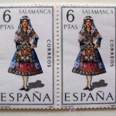 Sellos: TRAJES TIPICOS- SALAMANCA-BLOQUE DE 2. Lote 19573039