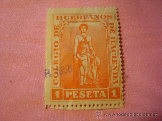 SELLO DE DOCUMENTOS COLEGIO DE HUERFANOS DE HACIENDA 1958 (Sellos - España - II Centenario De 1.950 a 1.975 - Usados)