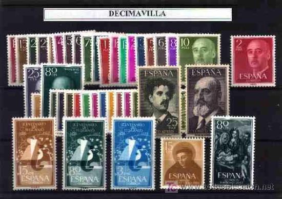 ESPAÑA, AÑO 1955 NUEVO Y COMPLETO, (Sellos - España - II Centenario De 1.950 a 1.975 - Cartas)