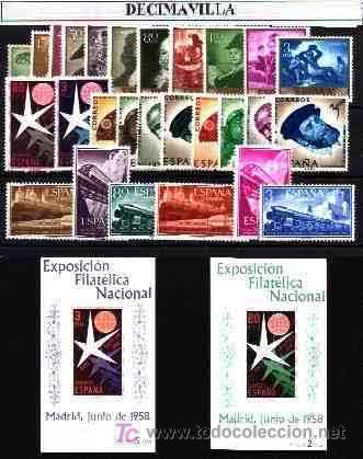 ESPAÑA, AÑO 1958 NUEVO Y COMPLETO, (Sellos - España - II Centenario De 1.950 a 1.975 - Cartas)
