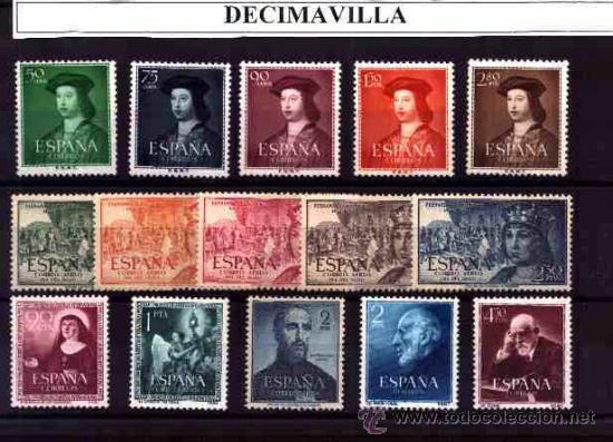 ESPAÑA, AÑO 1952 NUEVO Y COMPLETO, (Sellos - España - II Centenario De 1.950 a 1.975 - Cartas)