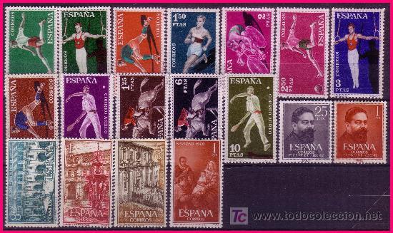 Sellos: 1960 Año Completo EDIFIL nº 1254 a 1325 * * - Foto 2 - 20917539