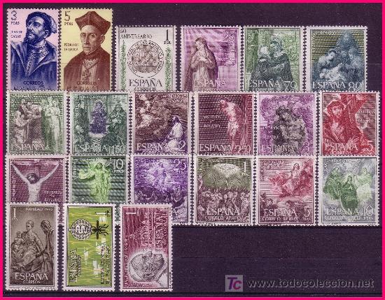 Sellos: 1962 Año Completo EDIFIL nº 1406 a 1480 * * - Foto 2 - 20917659