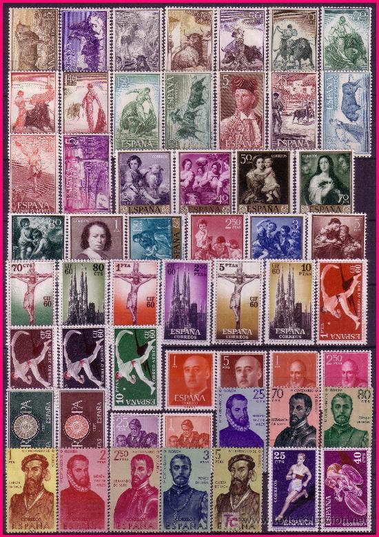 1960 AÑO COMPLETO EDIFIL Nº 1254 A 1325 * * (Sellos - España - II Centenario De 1.950 a 1.975 - Nuevos)