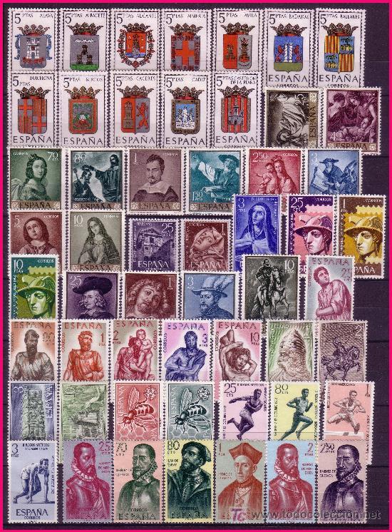 1962 AÑO COMPLETO EDIFIL Nº 1406 A 1480 * * (Sellos - España - II Centenario De 1.950 a 1.975 - Nuevos)