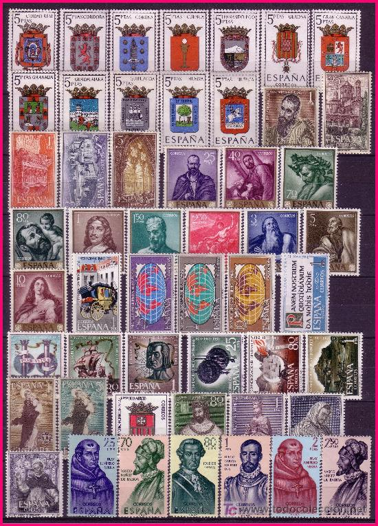 1963 AÑO COMPLETO EDIFIL Nº 1481 A 1540 * * (Sellos - España - II Centenario De 1.950 a 1.975 - Nuevos)