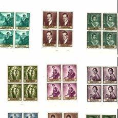 Sellos: EDIFIL 1657-1666 (FALTA EL 1663) BLOQUE DE 4, NUEVOS, CON GOMA Y SIN CHARNELA, BORDE DE HOJA. Lote 20990733