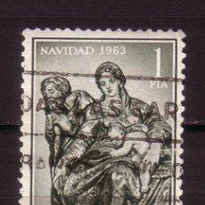 Sellos: ESPAÑA 1535 - AÑO 1963 - NAVIDAD - ARTE - NACIMIENTO DE BERRUGUETE. Lote 23482449