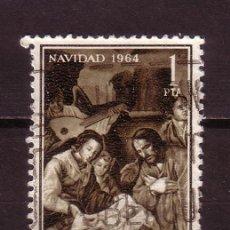 Sellos: ESPAÑA 1630 - AÑO 1964 - NAVIDAD - ARTE - PINTURA - NACIMIENTO DE ZURBARÁN. Lote 23777715