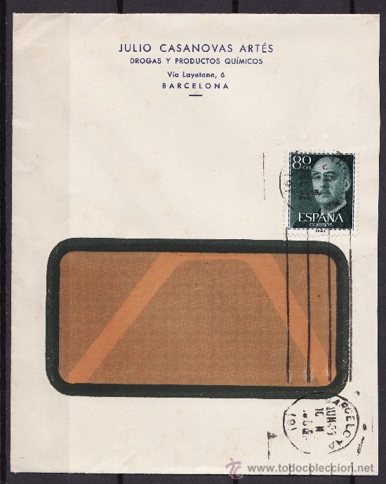CARTA CIRCULADA CANCELADORA BARCELONA 1953? (Sellos - España - II Centenario De 1.950 a 1.975 - Cartas)