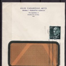 Sellos: CARTA CIRCULADA CANCELADORA BARCELONA 1953?. Lote 24437764