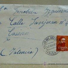 Sellos: CARTA CIRCULADA, VILLAR DEL ARZOBISPO, CASINOS, VALENCIA, 1961, ESCRITA A PLUMA, RECETA DE HORCHATA. Lote 25022267