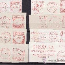 Sellos: FRANQUEOS MECANICOS ESPAÑA TEMATICA SERVICIOS Y SEGUROS 1965/1975. Lote 25606392