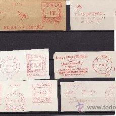Sellos: FRANQUEOS MECANICOS ESPAÑA TEMATICA TRANSPORTES Y AGENCIAS VIAJES 1965/1975. Lote 25606555