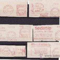 Sellos: FRANQUEOS MECANICOS ESPAÑA TEMATICA MAQUINARIA Y MATERIAL OFICINA 1965/1975. Lote 25606644