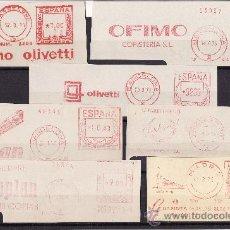 Sellos: FRANQUEOS MECANICOS ESPAÑA TEMATICA MAQUINARIA Y MATERIAL OFICINA 1965/1975 . Lote 25606720