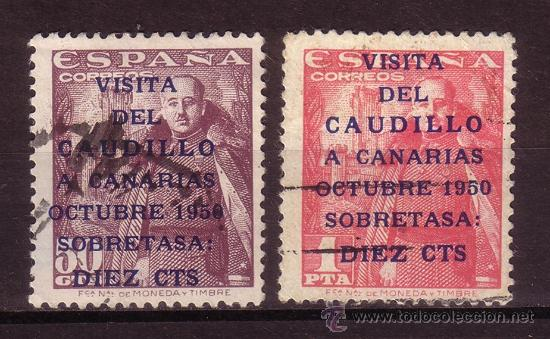 ESPAÑA EDIFIL 1088/89 - AÑO 1951 - VISITA DEL CAUDILLO A CANARIAS (Sellos - España - II Centenario De 1.950 a 1.975 - Usados)