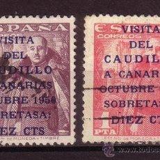 Sellos: ESPAÑA EDIFIL 1088/89 - AÑO 1951 - VISITA DEL CAUDILLO A CANARIAS. Lote 25958168