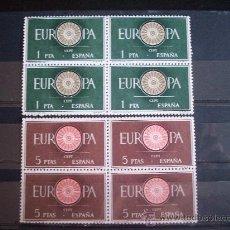 Sellos: MAGNIFICA SERIE DE EUROPA EN BLOQUE DE CUATRO EDIFIL 1294/95 EN NUEVO **. Lote 221722747