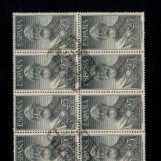 Sellos: ESPAÑA Nº 1124 - #1124 - LEGAZPI 1953- ESPECTACULAR BLOQUE DE 14 SELLOS CON CERTIFICADO GIJON. Lote 26737115